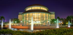 Kravis Center During a Cloudless West Palm Beach Night